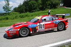 Ferrari 575 GTC. International competition of hill-climb for modern cars Stock Images