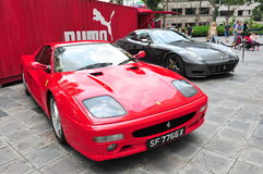 Ferrari 599 GTB & 512 on display Stock Photos