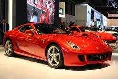 Ferrari 599XX bij de Show van de Motor 2010, Genève Stock Afbeeldingen