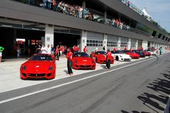 Ferrari 599XX in kuil Stock Foto's