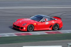 Ferrari 599XX op het spoor Royalty-vrije Stock Afbeelding