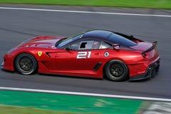 Ferrari 599XX op het spoor Stock Foto