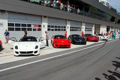 Ferrari 599XX in pit Stock Photography