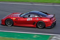 Ferrari 599XX sur la piste Photo stock