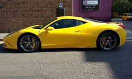 Ferrari amarelo Fotos de Stock Royalty Free