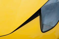 Ferrari amarillo Imagen de archivo libre de regalías
