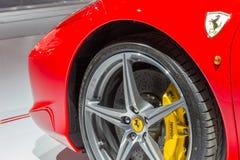 Ferrari 458 ascendentes próximos da aranha Foto de Stock Royalty Free