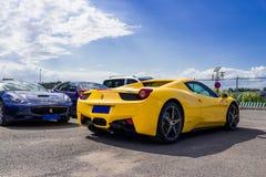 Ferrari-auto's stock afbeelding