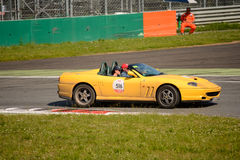 Ferrari 550 Barchetta Pininfarina at the Tribute competition stock images