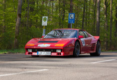 Ferrari 512 BB 1977 på ADACEN Wurttemberg historiska Rallye 2013 Arkivfoton