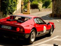 Ferrari 512 BB på Bergamo den historiska granda prixen 2017 Fotografering för Bildbyråer