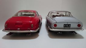 Ferrari 250 Berlinetta SWB i Ferrari 250 Lusso tylny widoku otwarte drzwi Zdjęcie Royalty Free