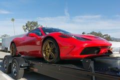 Ferrari 458 bil på skärm Royaltyfri Foto