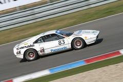 Ferrari blanco - toma panorámica Fotos de archivo