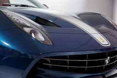 Ferrari Blue Car Royalty Free Stock Photography