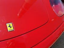 Ferrari bonnet and badge royalty free stock image