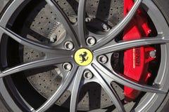 Ferrari-Bremsen lizenzfreie stockbilder
