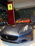 Ferrari California. On display during Dubai Motor Show 2009 at Dubai Int'l Convention and Exhibition Centre December 19, 2009 in Dubai, United Arab Emirates Stock Photo