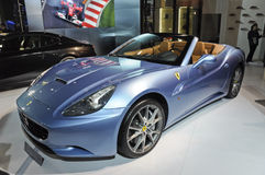 Ferrari California. Italy famous brand,Ferrari California open-air sports car, in its exhibition hall,in 2010 international Auto-show GuangZhou. it is from 20/12 Royalty Free Stock Image