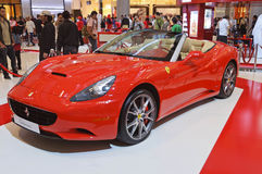Ferrari California in Dubai Mall Gallery Stock Images