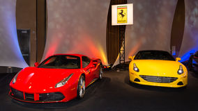 Ferrari 488 and California T Stock Photo