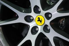 Ferrari California wheel Stock Photography