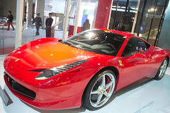Ferrari car at China international Royalty Free Stock Images