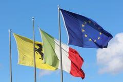 Ferrari car flags maranello. Original photo from maranello modena italy Stock Image