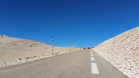 Ferrari Car on Mont Ventoux stock video footage