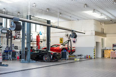 Ferrari car repair service Stock Image