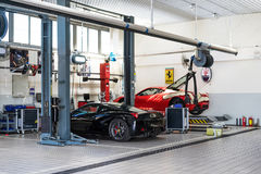 Ferrari car repair service Stock Images