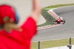 Ferrari car and supporter Stock Photos