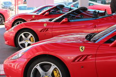 Ferrari cars maranello exposition Stock Photography