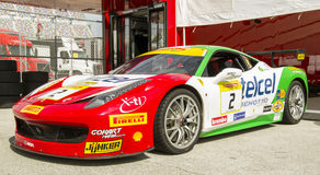 Ferrari Challenge 2016 Daytona winning car of Ricardo Perez de Lara. Ferrari 458 Italia Challenge Evo of Ricardo Perez de Lara won the 2016 Daytona North Stock Image