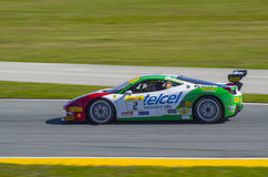 Ferrari Challenge 2016 Daytona winning car of Ricardo Perez de Lara Stock Photos