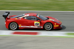 Ferrari 458 Challenge EVO car on Monza Track -  Ferrari Challenge April 2015 Royalty Free Stock Photography