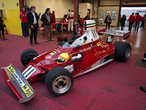 Ferrari Championship. A 1970 Ferrari F1  at the Mugello circuit, during the Ferrari Championship 2011 ( http://bit.ly/rL8XCe ). This is the car used by Clay Royalty Free Stock Photo