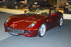 Ferrari cherry color in the showroom Royalty Free Stock Images