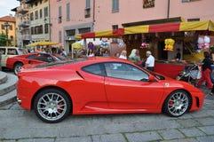 Ferrari and classic cars show Como italy Stock Image