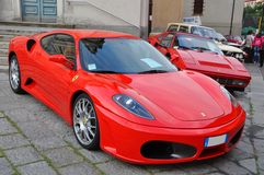 Ferrari and classic cars show Como italy Stock Images