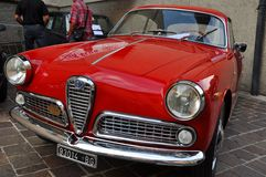 Ferrari and classic cars show Como italy royalty free stock image