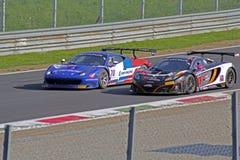Ferrari contro mclaren Immagini Stock