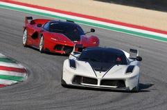 Ferrari Dag 2015 Ferrari FXX K bij Mugello-Kring Stock Foto's
