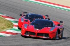 Ferrari dag Ferrari FXX 2015 K på den Mugello strömkretsen Royaltyfri Fotografi