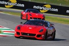 Ferrari Dag 2015 Ferrari 599 XX bij Mugello-Kring Stock Foto's