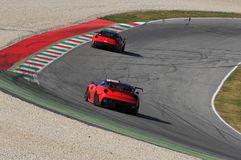 Ferrari dag Ferrari 2015 599 XX på den Mugello strömkretsen Fotografering för Bildbyråer