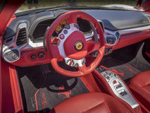 Ferrari dashboard interior Stock Image
