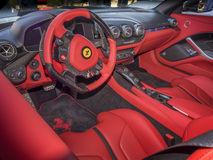 Ferrari dashboard interior Stock Images