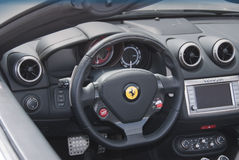 Ferrari dashboard and interior Royalty Free Stock Photo