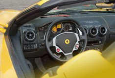 Ferrari dashboard and interior Stock Images